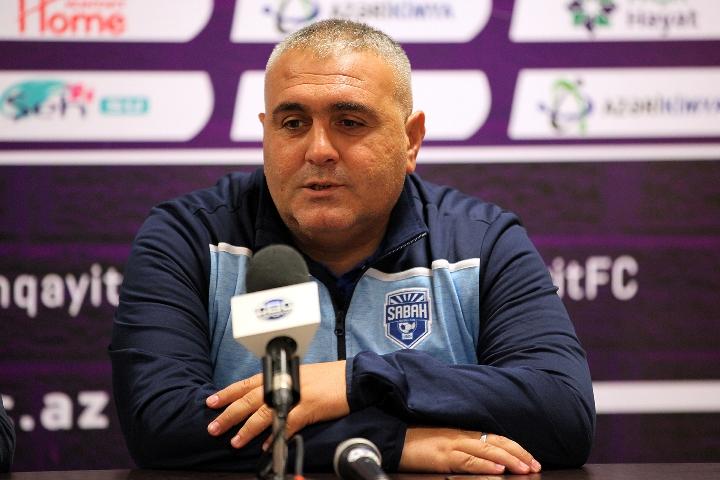 """R.Babayev: """"Bu gün çalışdıq ki, baxımlı oyun göstərək"""""""