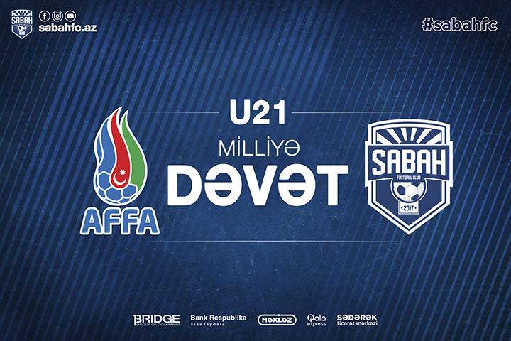 """""""Sabah"""" FK-nın 5 futbolçusu U-21 millimizə dəvət aldı"""